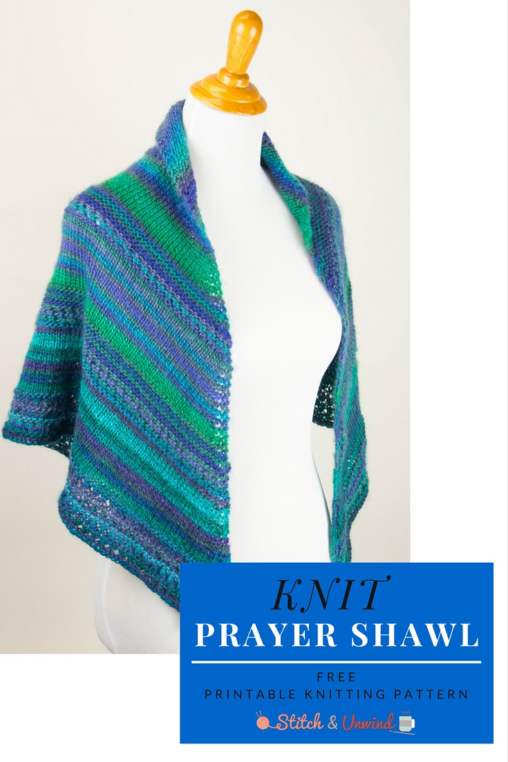 A Blessed Day Knit Prayer Shawl