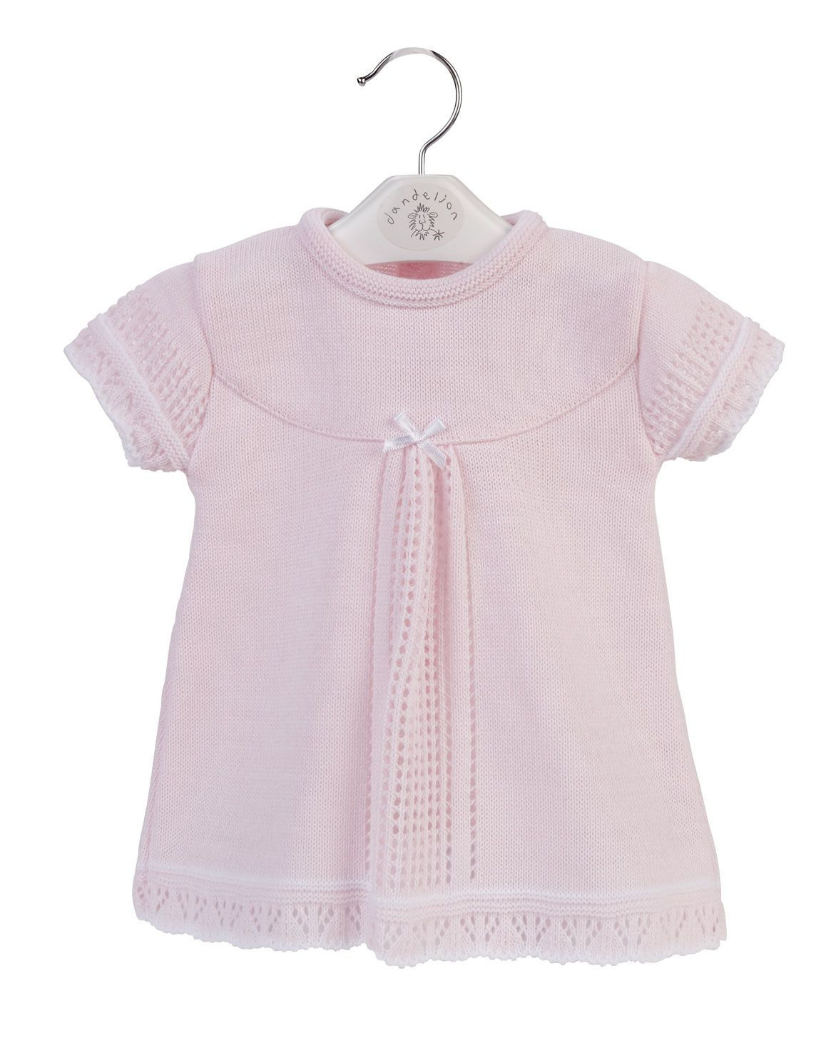 a2830 girls knitted baby dress 3658 p