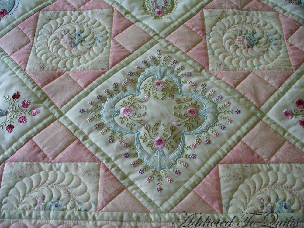 New Addicted to Quilts Two Pretty Embroidery Quilts Embroidery Quilt Patterns Of Contemporary 50 Pictures Embroidery Quilt Patterns