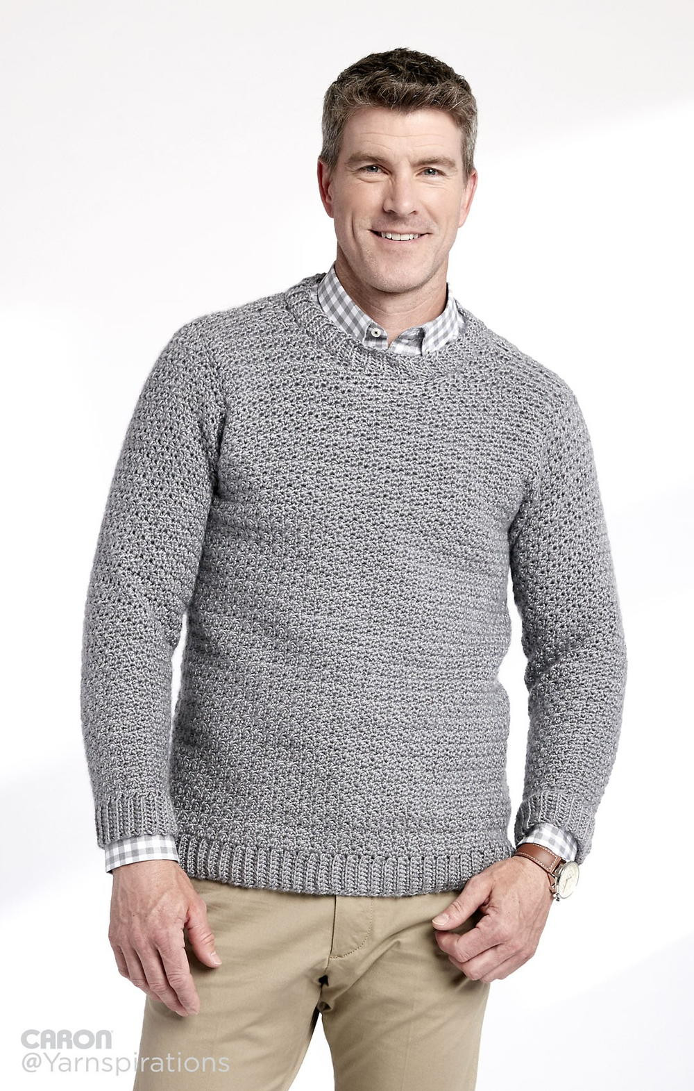 New Adult Crochet Crew Neck Pullover Crochet Mens Sweater Of Awesome 15 Crochet Men Sweater Patterns 2017 Crochet Mens Sweater