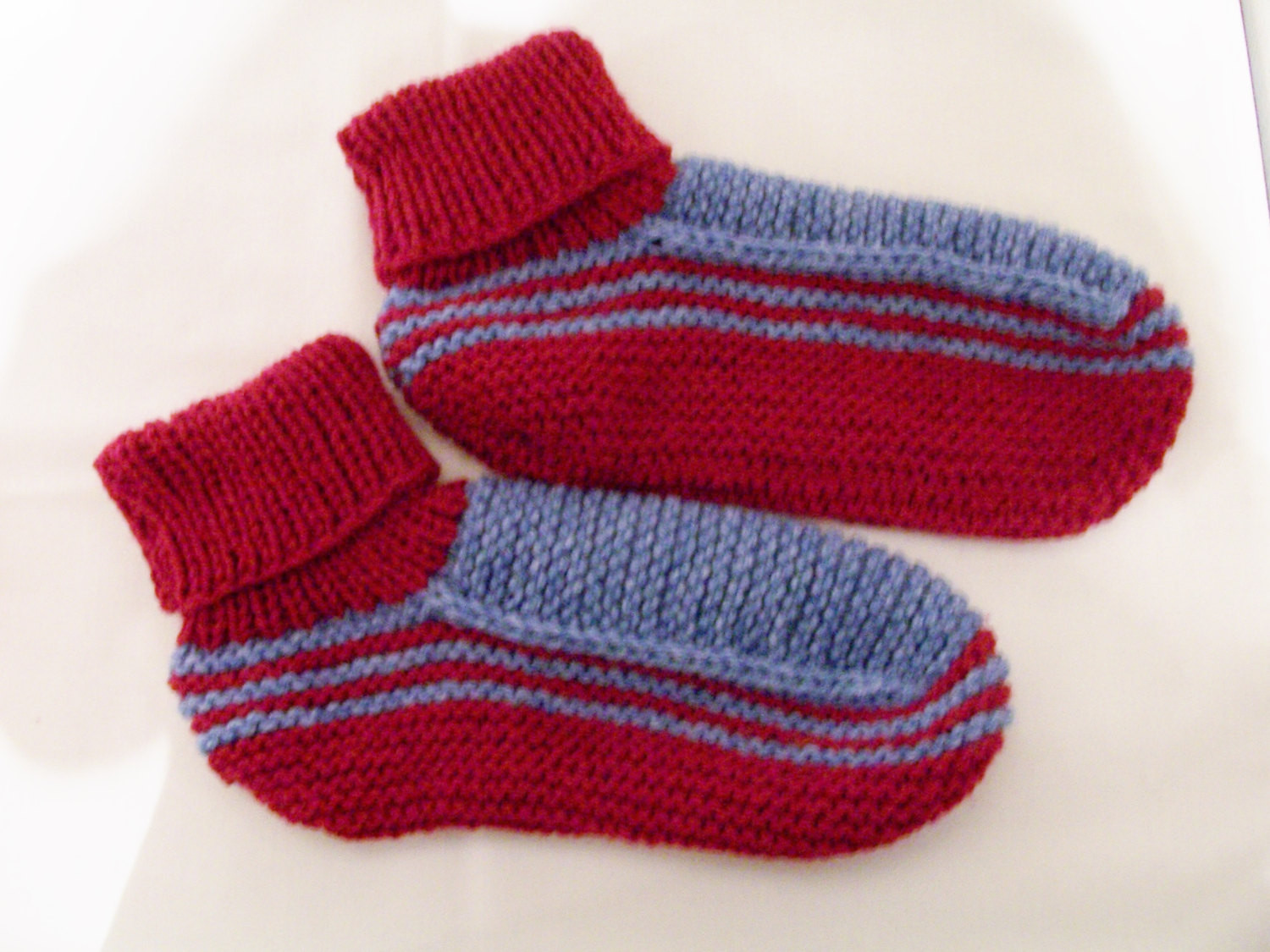 New Adult Knitted Acrylic Yarn sock Slippers In Burgundy and Blue Knitted Booties for Adults Of Delightful 47 Images Knitted Booties for Adults