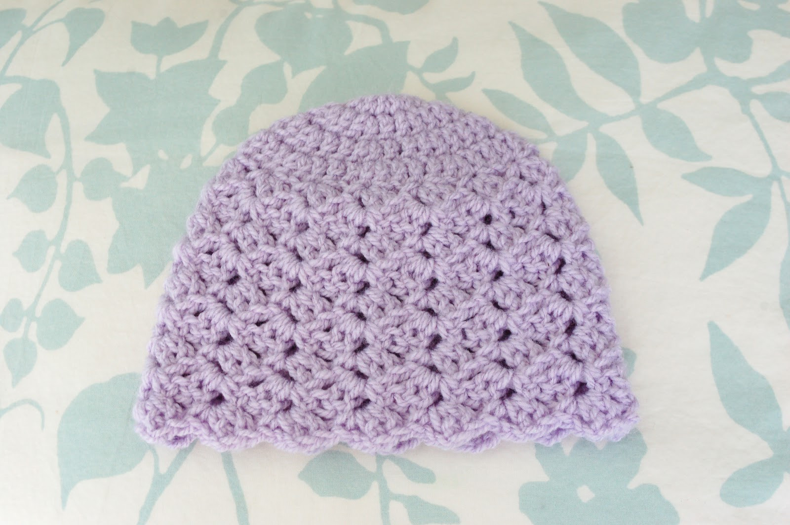 free pattern tulip stitch hat newborn