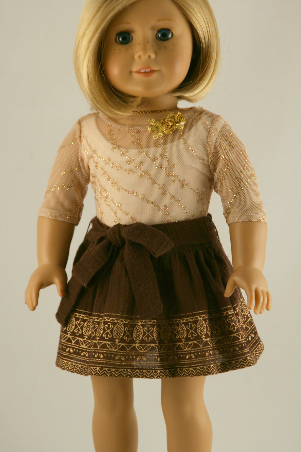 New American Girl Doll Clothes Printed Gauze Skirt Sheer Gold American Girl Doll Skirts Of Incredible 50 Ideas American Girl Doll Skirts