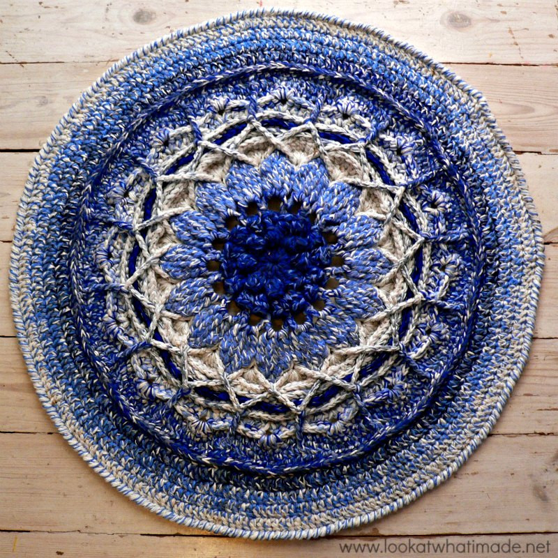 New Another Blooming Mandala Rug ⋆ Look at What I Made Crochet Rug Patterns with Yarn Of Great 50 Images Crochet Rug Patterns with Yarn