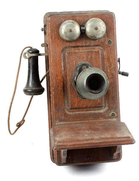 ANTIQUE KELLOGG CRANK WALL PHONE Lot 5126