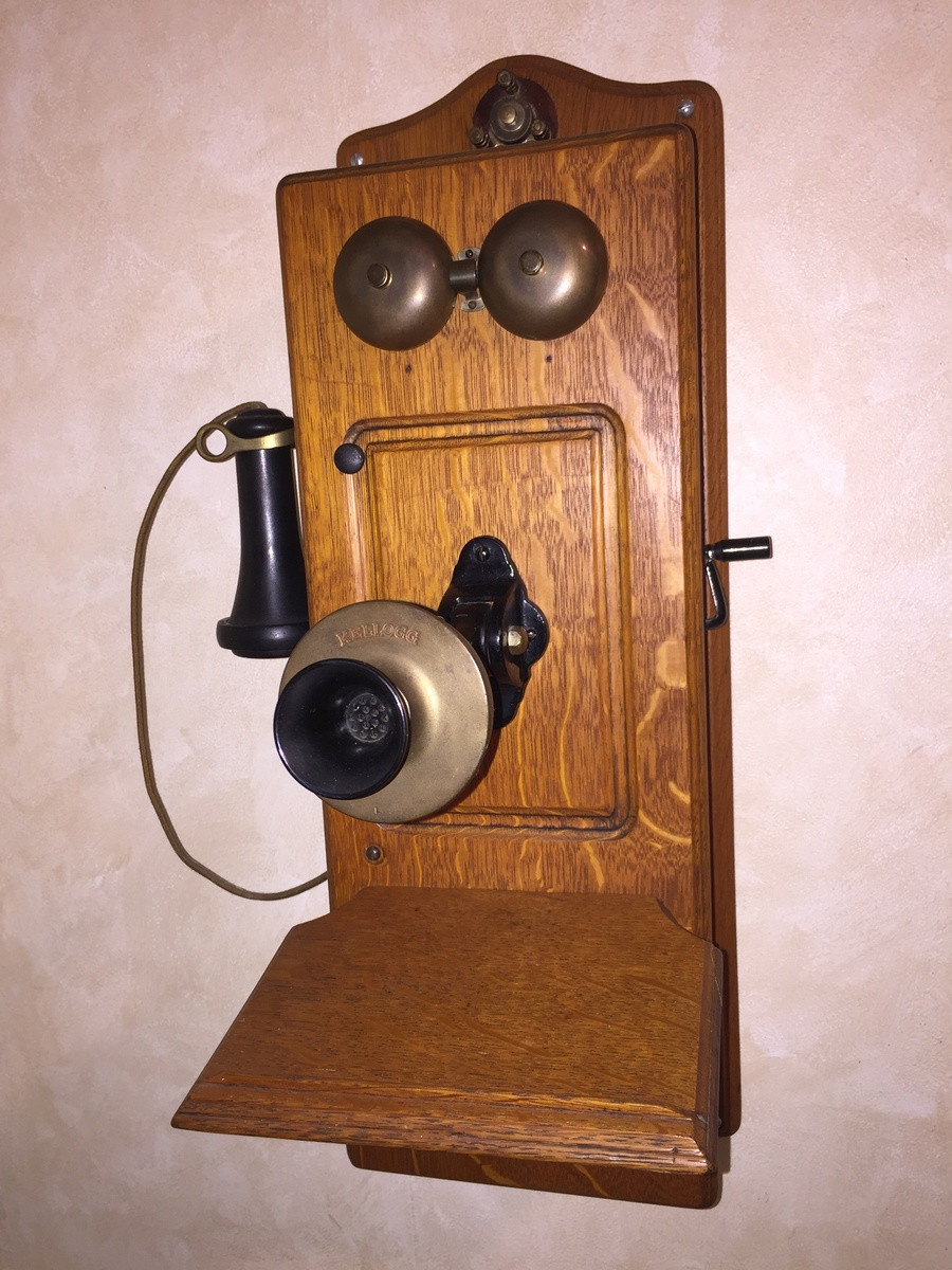 New Antique Kellogg Early 1900s 4 Bar Magneto Powered Crank Antique Wall Telephone Of Superb 36 Ideas Antique Wall Telephone