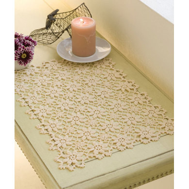 Apple Blossom Placemat in Red Heart Aunt Lydia s Classic