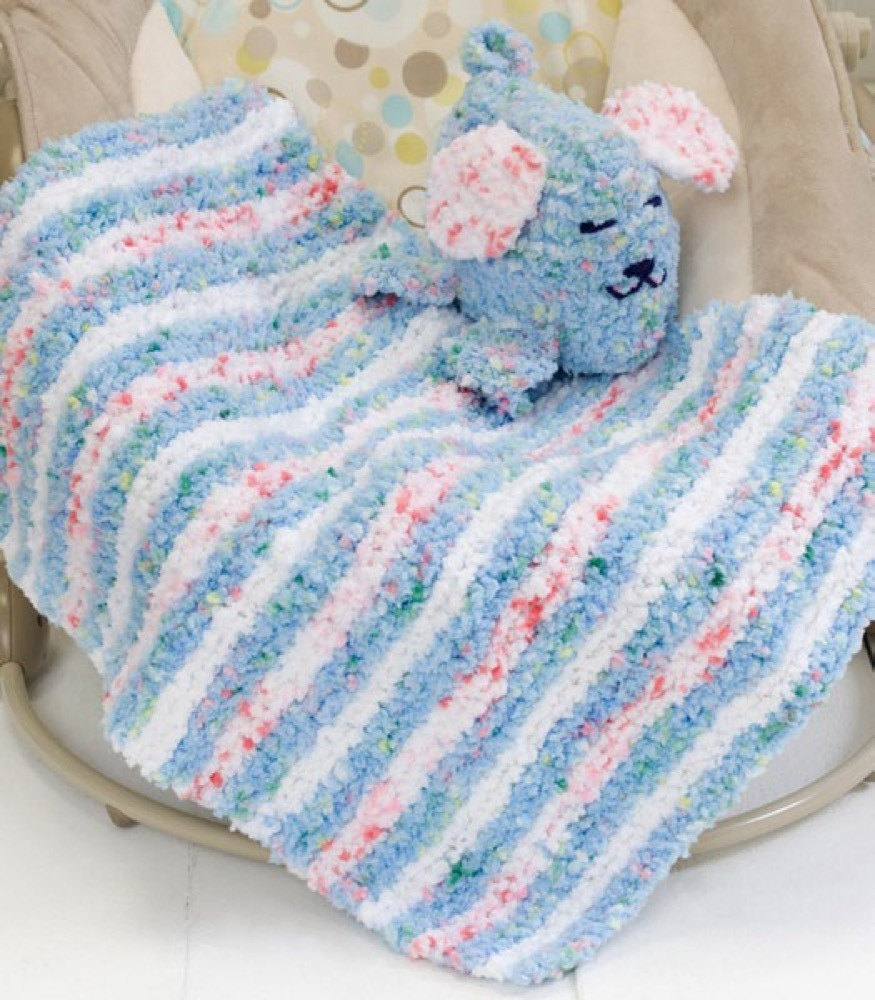 Baby Blankie & Puppy Pal in Red Heart Buttercup LW2198