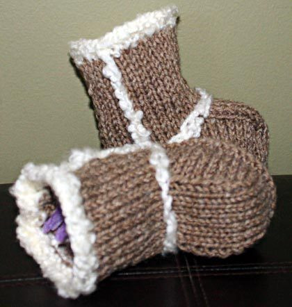Baby Booties Ugg Boots Knitting Pattern