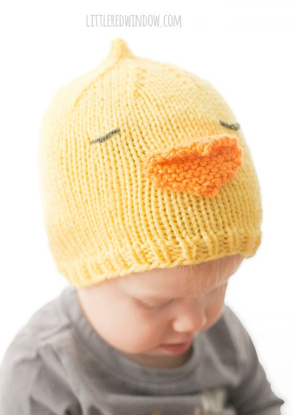Baby Chick Hat KNITTING PATTERN Baby Chicken Hat Easter