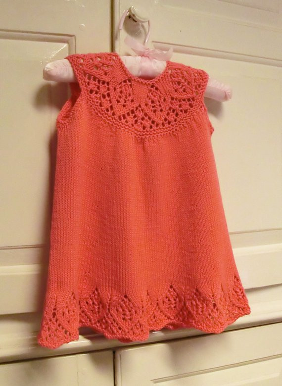 New Baby Dress Knitting Pattern with Lace Yoke Meredith Baby Baby Girl Knitted Dress Of Incredible 47 Photos Baby Girl Knitted Dress