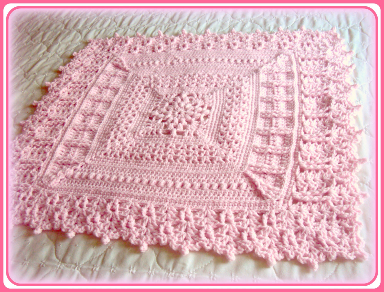 baby girl blanket crochet patterns Crochet and Knit