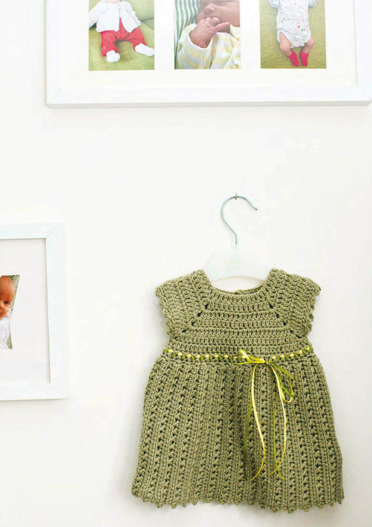girls pinafore dress free crochet pattern