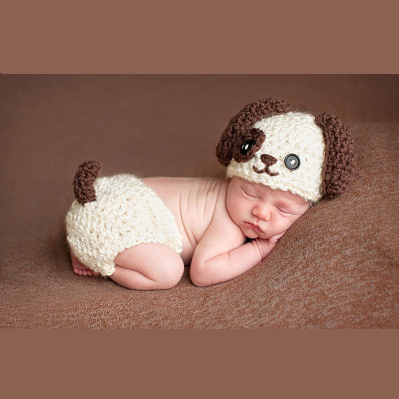 New Baby Infant Knitted Puppy Dog Costume Set Newborn Crochet Baby Costumes Of Incredible 41 Models Crochet Baby Costumes