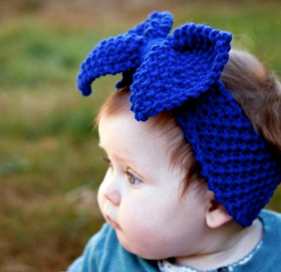 New Baby Knit Headband Little Girl with Big Bow by theburgundybow Baby Headband Knitting Pattern Of New 47 Ideas Baby Headband Knitting Pattern