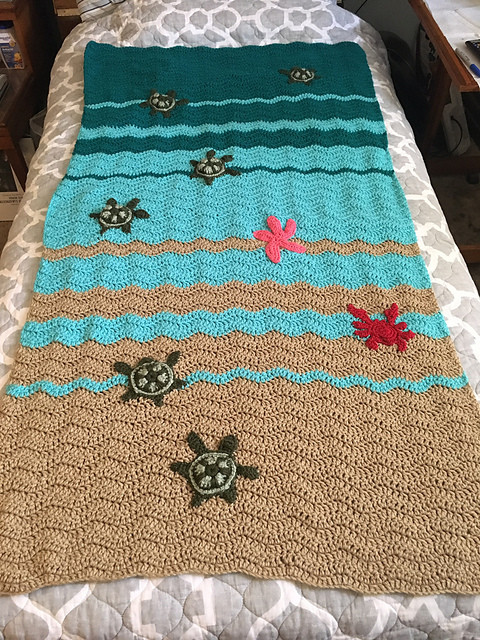 New Baby Sea Turtle Crochet Blanket Pattern Sea Turtle Crochet Blanket Pattern Of Beautiful Premier Sea Turtle Blanket Free Download – Premier Yarns Sea Turtle Crochet Blanket Pattern