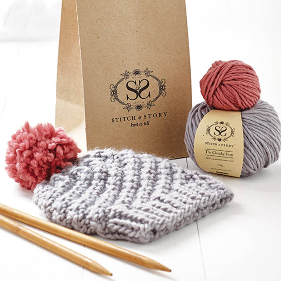 New Beginner S Pom Pom Hat Knitting Kit by Stitch & Story Crochet Supplies for Beginners Of Marvelous 49 Ideas Crochet Supplies for Beginners