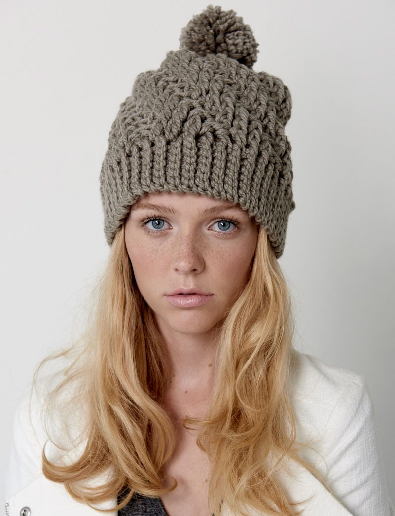 Bernat Stepping Texture Hat Crochet Pattern