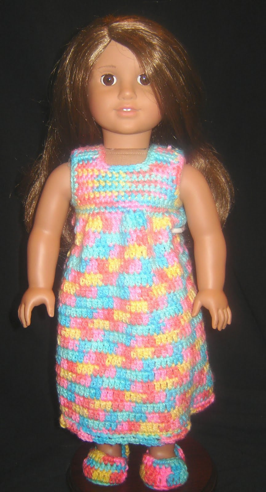 "New Bizzy Crochet Nightie Robe & Slippers 18"" Doll Clothes Crochet Clothing Patterns Of Amazing 44 Pics Crochet Clothing Patterns"