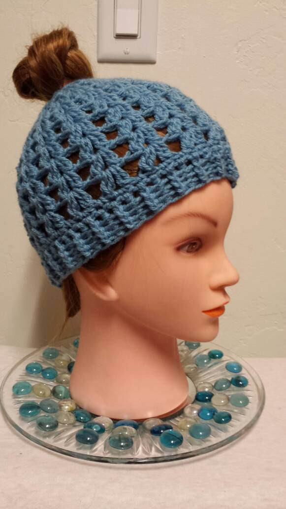 New Blue Bun Hole Beanie Messy Bun Beanie Ponytail Hat Beanie with Bun Hole Of Amazing 46 Photos Beanie with Bun Hole