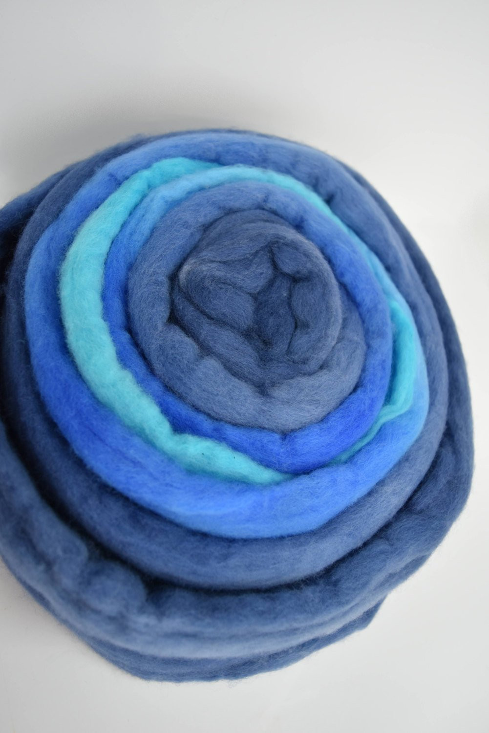 Blue Wool roving Merino wool roving Felting wool Merino wool