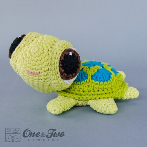 Bob the Turtle Amigurumi Crochet Pattern