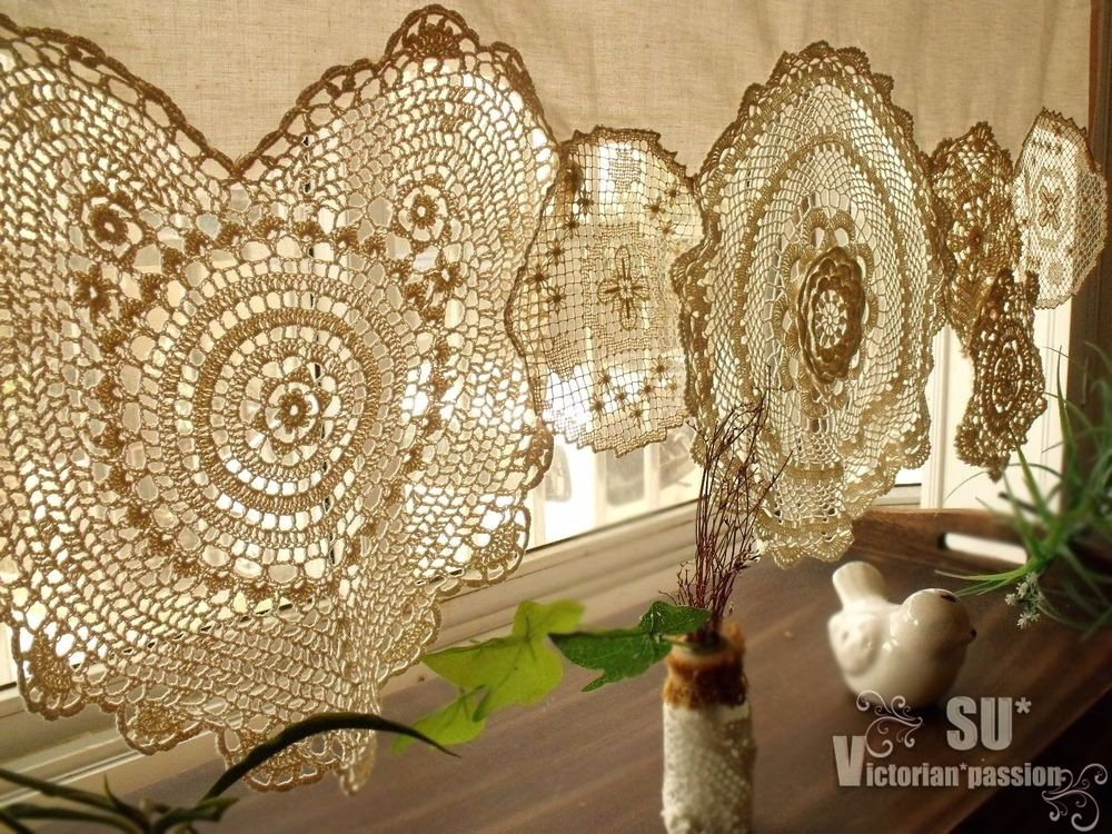 New Boho Vintage Crochet Doilies Shabby French Chic Window Crochet Curtains Of Marvelous 47 Pictures Crochet Curtains