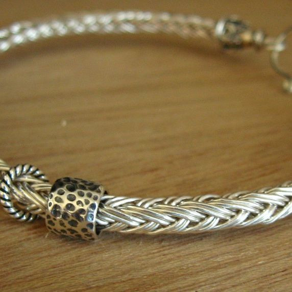 New Bracelet Tutorial Ke This for Large whole Beads Wire Knitting Of Unique 44 Images Wire Knitting