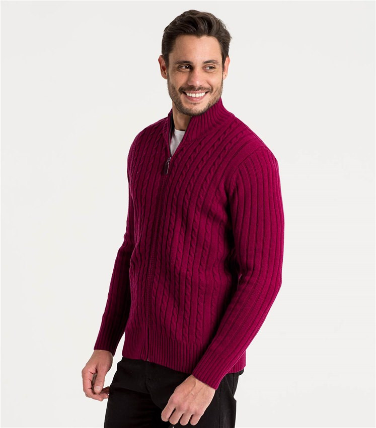 Burgundy Wine Pure Lambswool