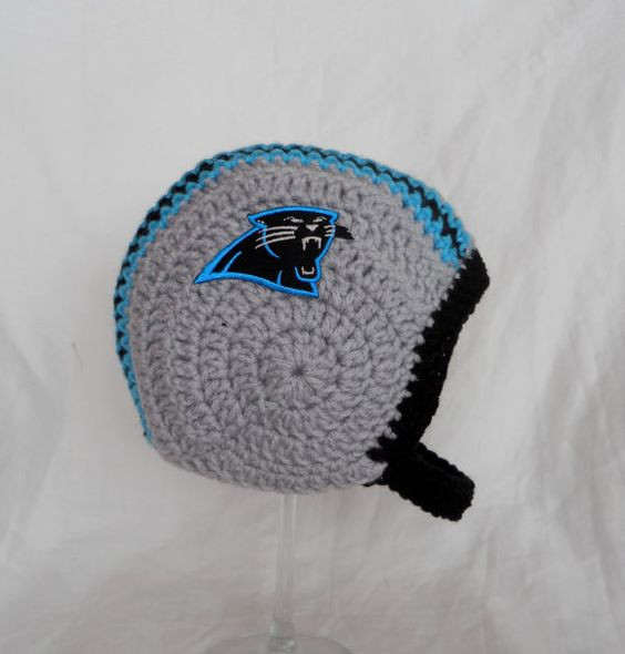 New Carolina Panthers Crochet Baby Football Helmet Hat 03 by Crochet Football Helmets Of Lovely 48 Pics Crochet Football Helmets
