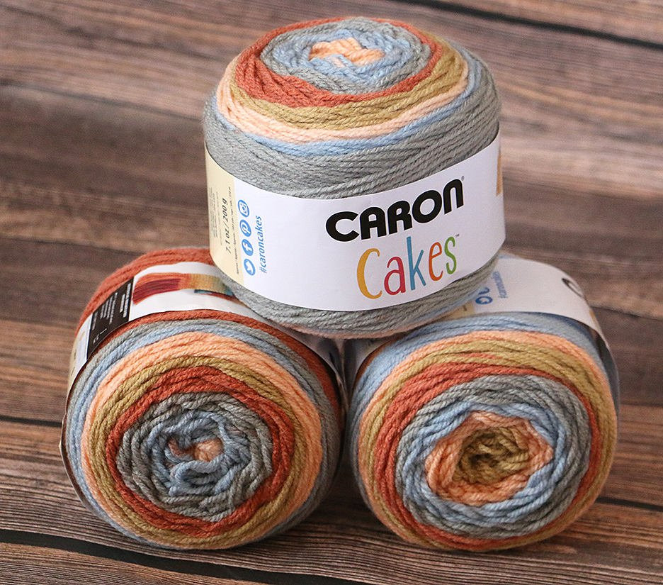 Caron Cakes Yarn Fruit Cobbler NEW Color Wool Blend Yarn