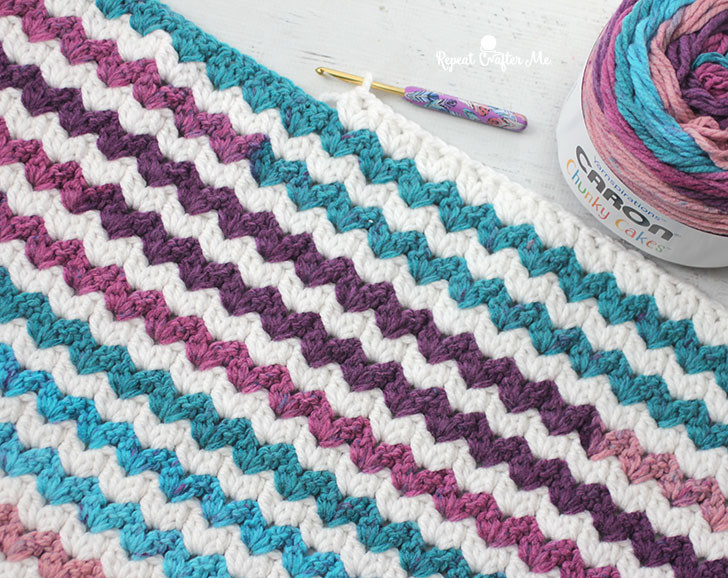 New Caron Chunky Cakes Crochet Cluster V Stitch Blanket Caron Chunky Cakes Of Amazing 43 Pictures Caron Chunky Cakes