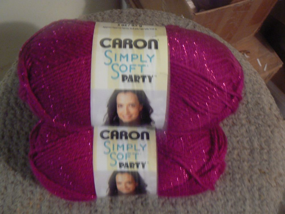 New Caron Simply soft 1 Set 3 Skeins 3 Oz Each 0002 Fuschia Caron Simply soft Party Yarn Of Incredible 47 Images Caron Simply soft Party Yarn