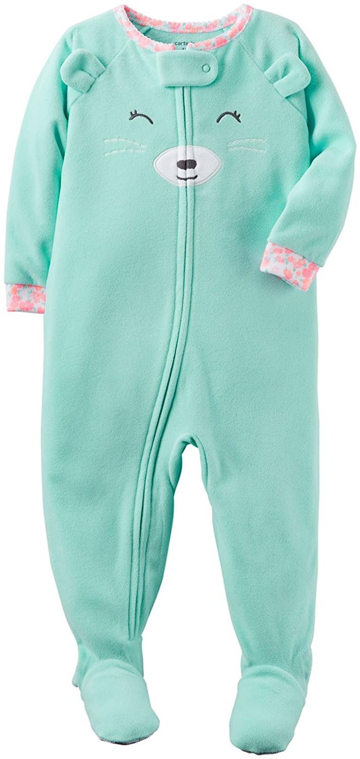 New Carter S Baby Girls 1 Piece Footed Fleece Pajamas Baby Pajamas with Feet Of Delightful 40 Photos Baby Pajamas with Feet