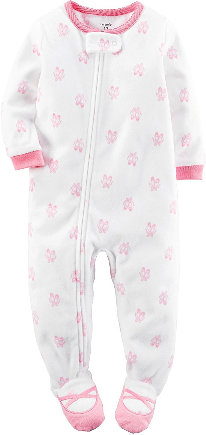 New Carter S Baby Girls 1 Piece Footed Fleece Pajamas Pj S Baby Pajamas with Feet Of Delightful 40 Photos Baby Pajamas with Feet