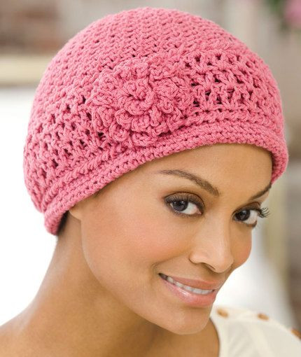 Chemo Cap Free Crochet Pattern from Red Heart Yarns