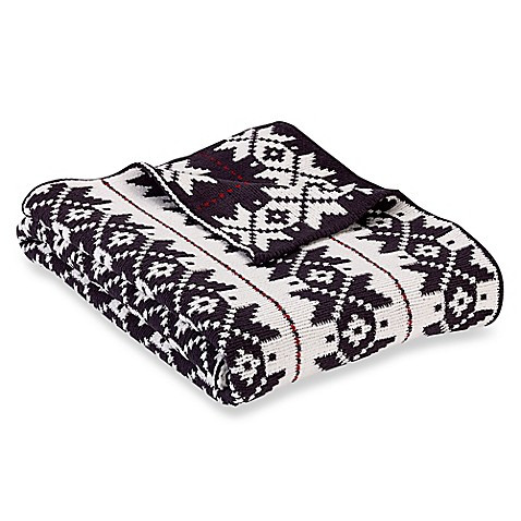 Chenille Snowflake Reversible Knit Throw Blanket Bed