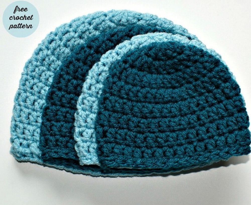 New Chic and Cozy these Baby Crochet Hats are Simply Adorable Basic Crochet Beanie Pattern Of Charming 49 Pics Basic Crochet Beanie Pattern