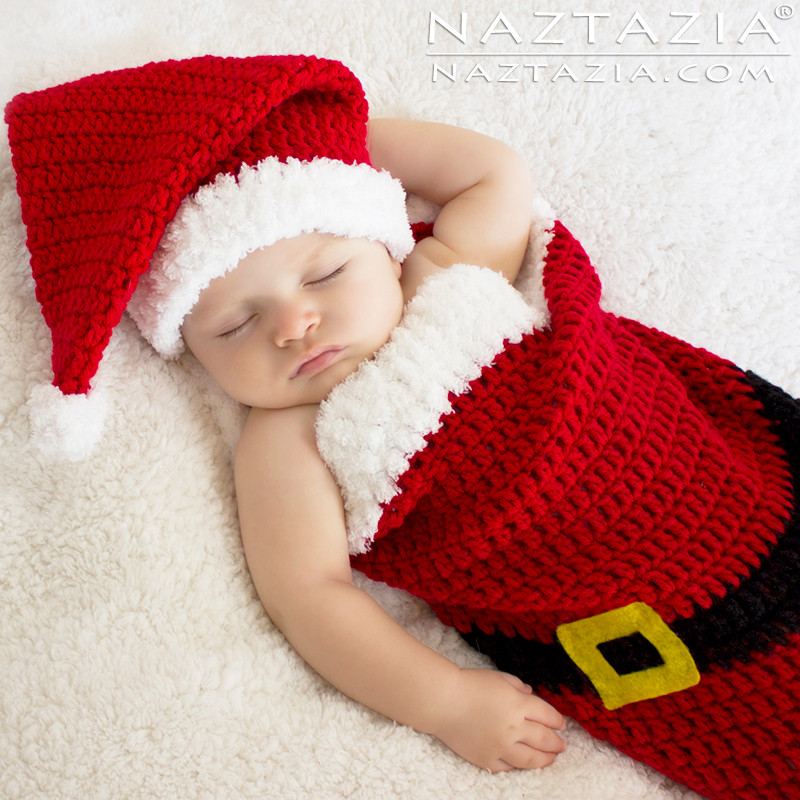New Christmas Holiday Baby Santa Hat and Cocoon Bunting by Crochet Baby Santa Hat Of Amazing 44 Images Crochet Baby Santa Hat