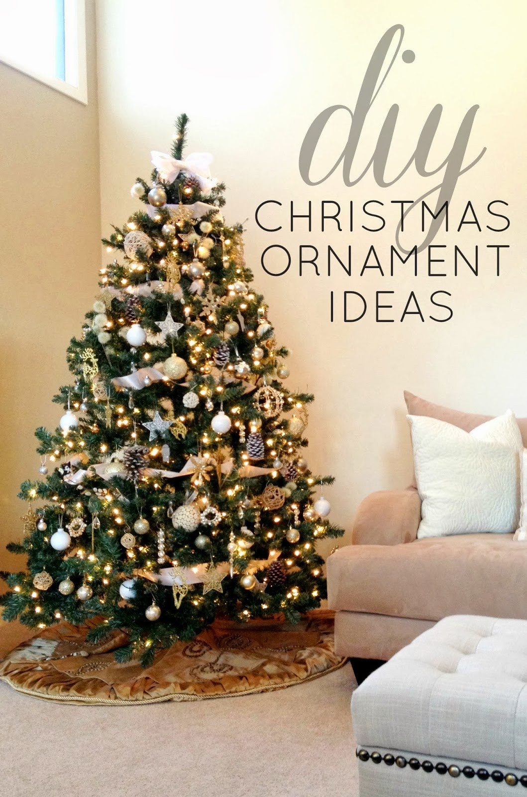 New Christmas Tree Decorations Ideas and Tips to Decorate It Diy Xmas ornaments Of Amazing 50 Ideas Diy Xmas ornaments
