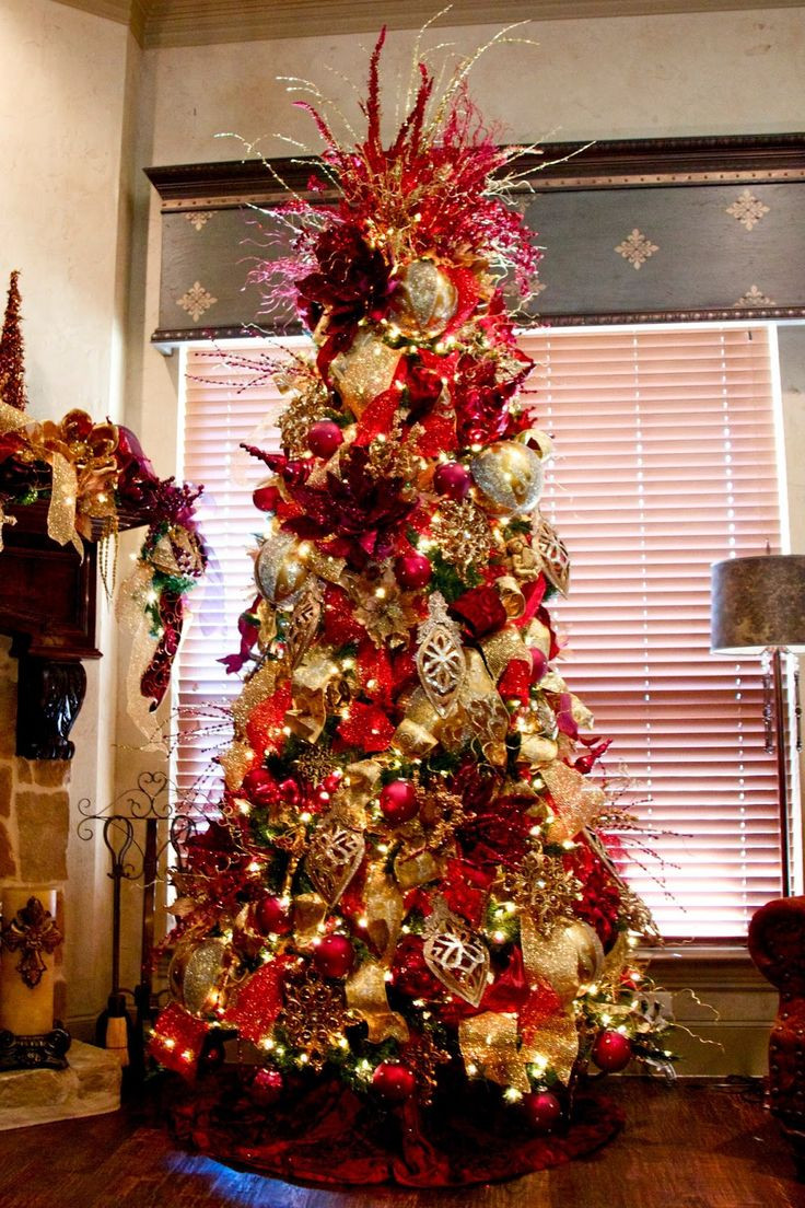 Christmas Tree Decorations Red And Gold