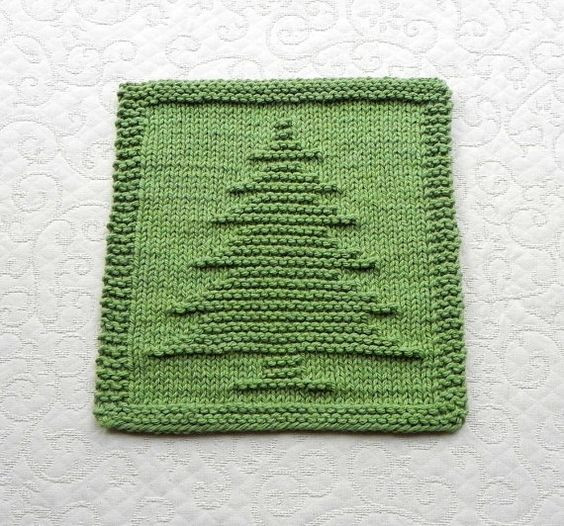 New Christmas Tree Knit Dishcloth Hand Knitted Unique Design Knitted Dishcloth Patterns for Christmas Of Adorable 43 Pics Knitted Dishcloth Patterns for Christmas