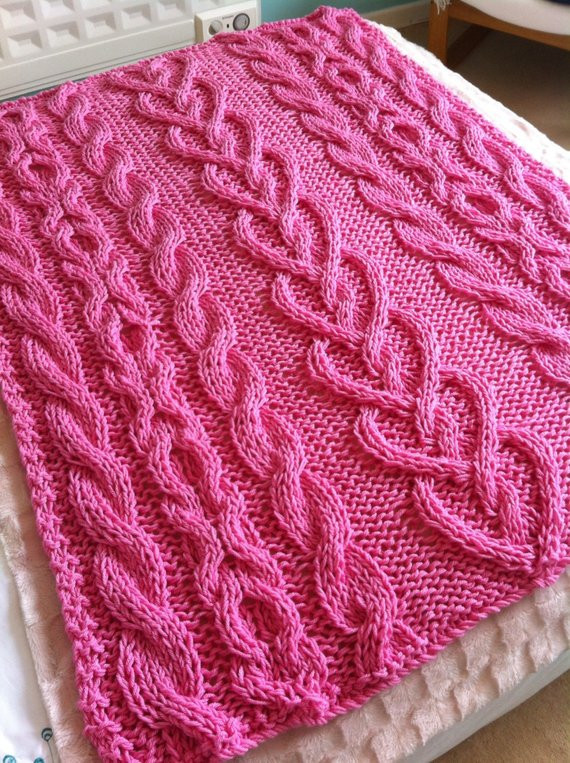 New Chunky Cable and Hearts Hand Knit Blanket Throw Pretty Chunky Cable Knit Throw Of New 48 Images Chunky Cable Knit Throw