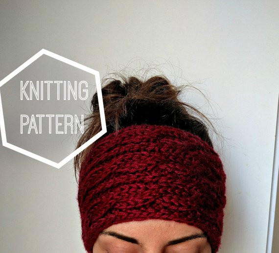 New Chunky Cable Knit Ear Warmer Pattern Knitting Patterns for Knitted Ear Warmers Of Unique 50 Images Knitted Ear Warmers