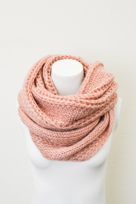 New Chunky Cable Knit Infinity Scarf Peach Oversized Knit Circle Knit Circle Scarf Of Brilliant 47 Photos Knit Circle Scarf