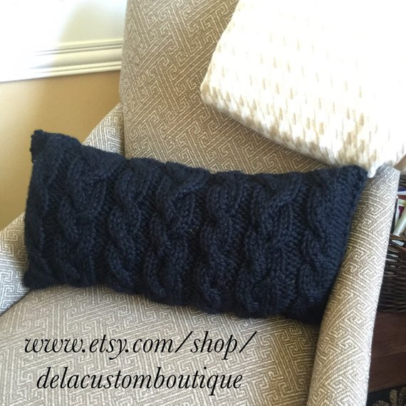 New Chunky Cable Knit Pillow Cover Lumbar Cable Knit Pillow Cover Of Top 41 Pictures Cable Knit Pillow Cover
