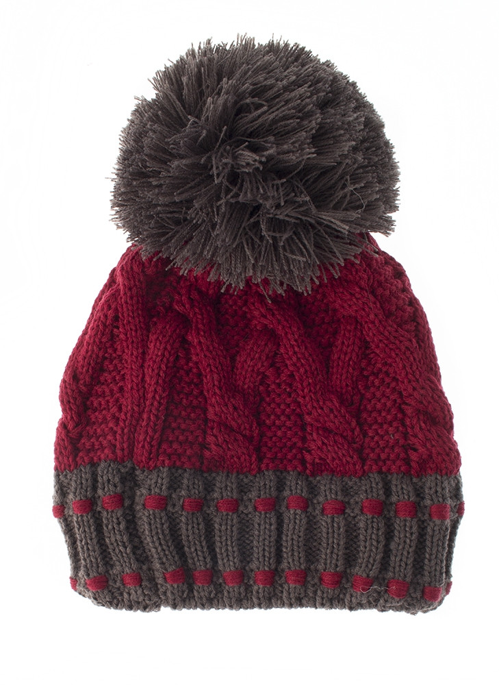 3 3232 chunky cable knitted hat