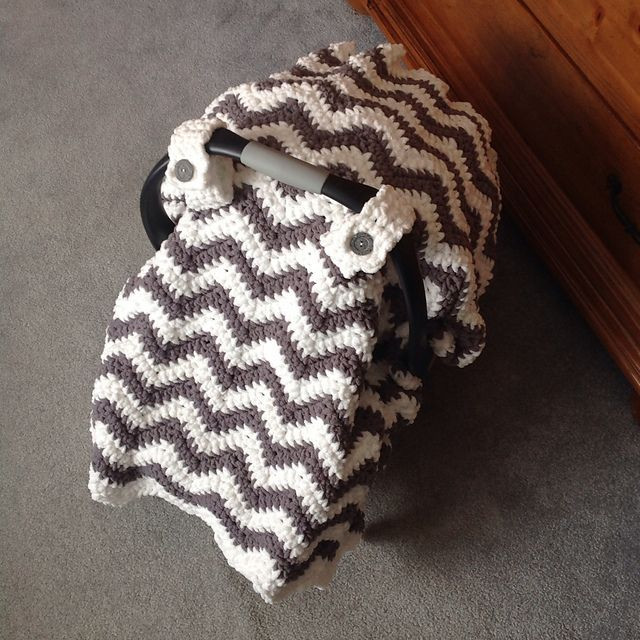 New Chunky Chevron Car Seat Canopy Cover Pattern by Crochet by Crochet Seat Cover Of Great 40 Models Crochet Seat Cover