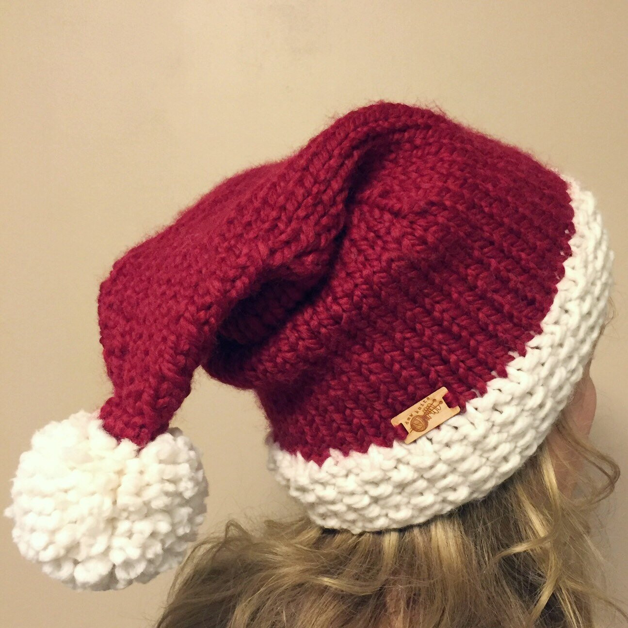New Chunky Knit Santa Hat Santa Hat Christmas Hat Hostess T Knitted Christmas Hats Of Adorable 50 Models Knitted Christmas Hats