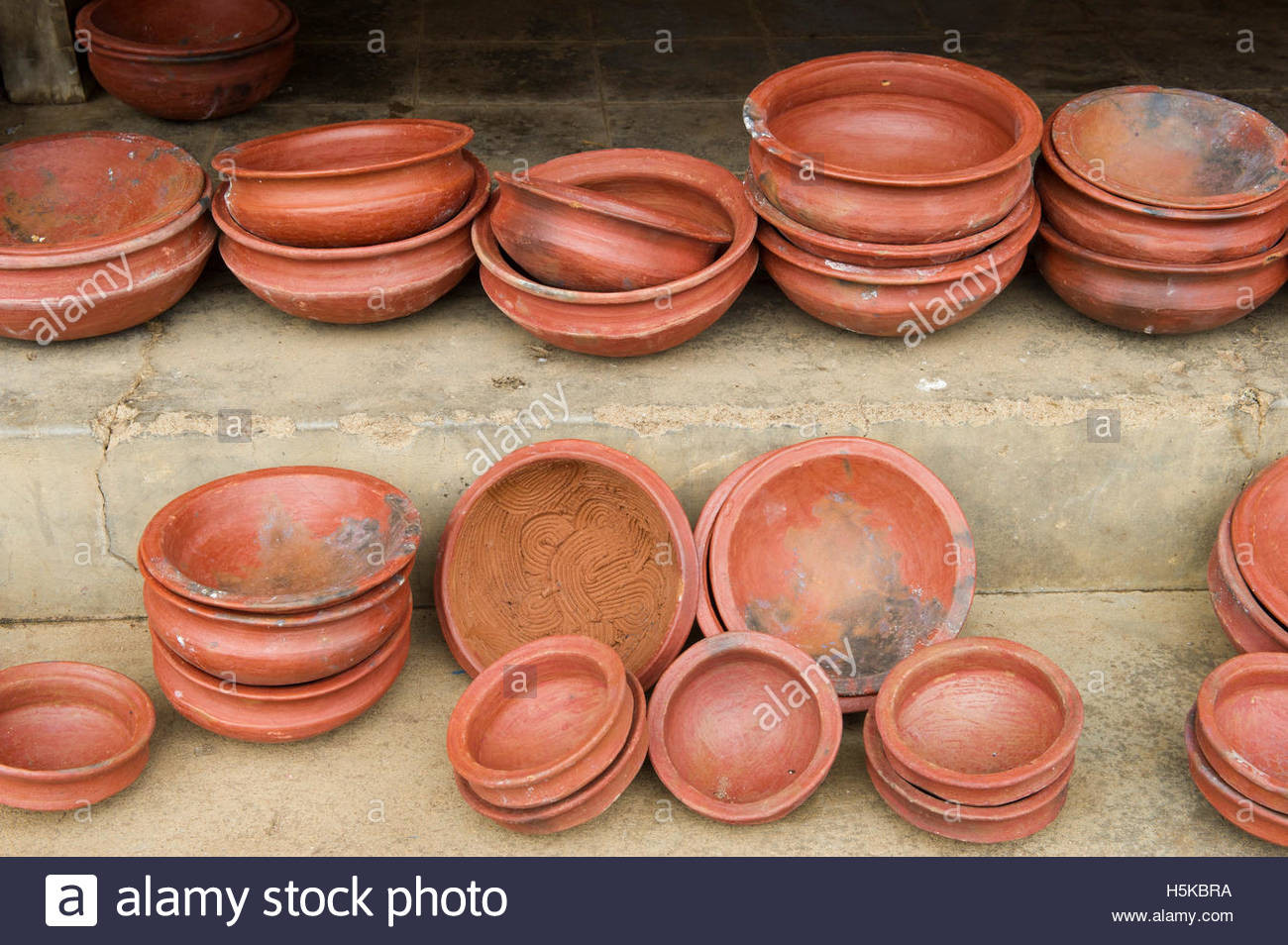 Clay cooking pots for sale in the market Batticaloa Sri
